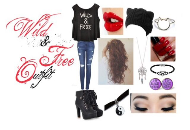 Outfit made by me on polyvore check me out: ali1127cy