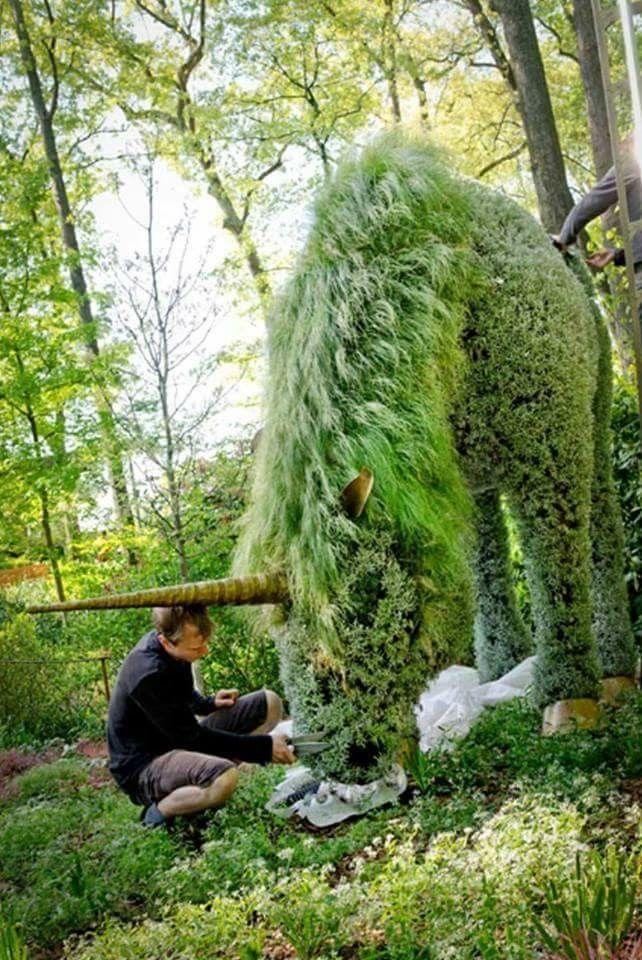 Unicorn living sculpture at Atlanta Botanical Garden. #botanicgarden