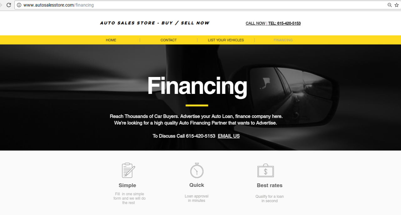 Reach Thousands of Car Buyers. Advertise your Auto Loan