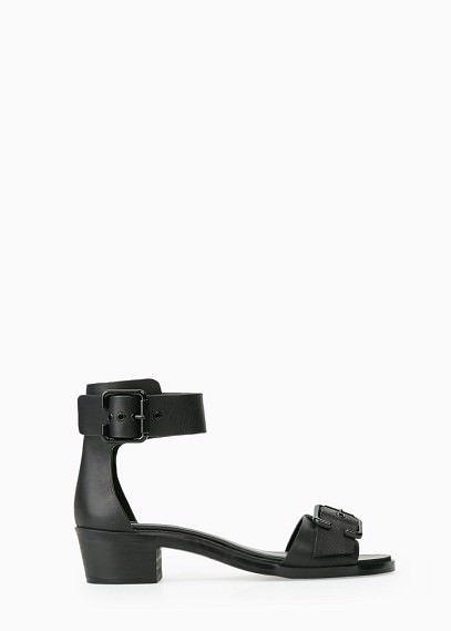 ab3dd6cf0261 Buckles leather sandal Lædersandaler