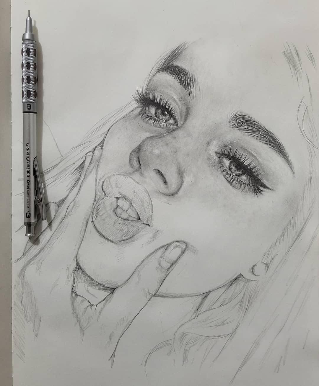 "Yuriy Strigul on Instagram: ""#pencil ✏️ sketch portrait of Kiera Johnston @kierajohnston_ drawn by Ronald Restituyo @ronaldrestituyo artist from Dominican Republic 🇩🇴"""