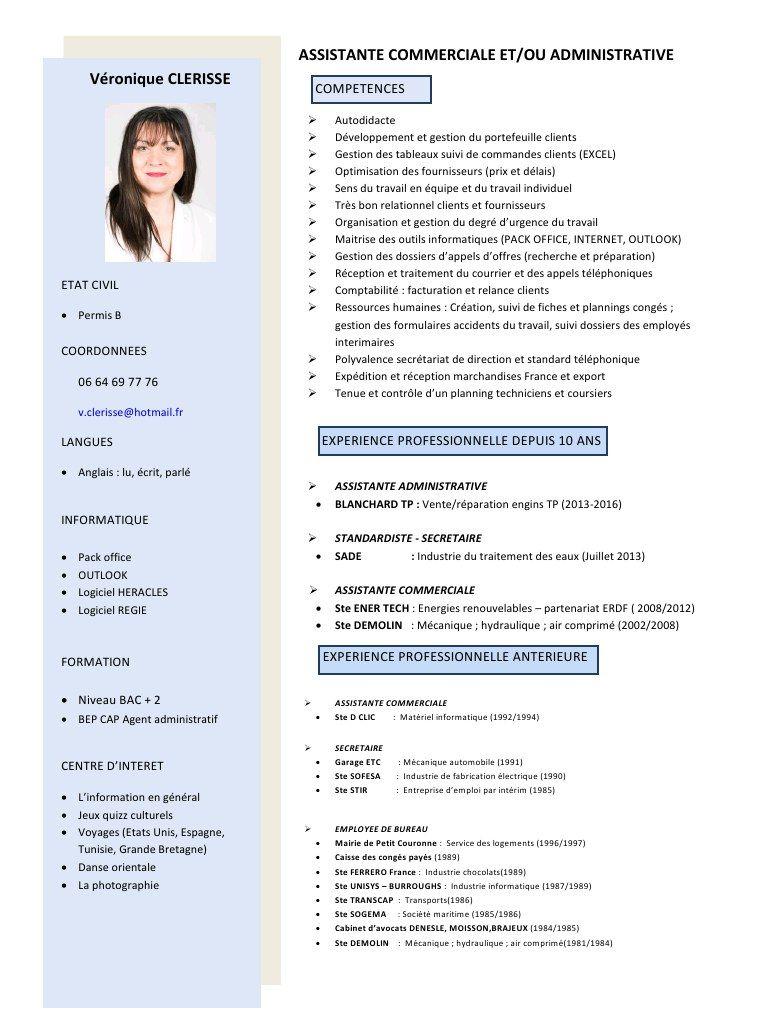 r u00e9sultat de recherche d u0026 39 images pour  u0026quot cv assistant administratif pdf u0026quot