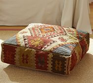 recycled kilm floor pillow