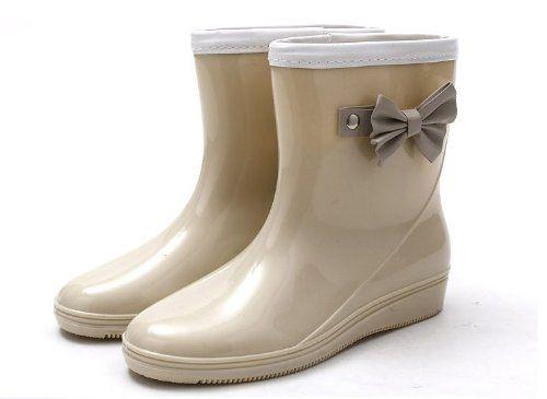Anna&ampzero® Fashion Womens Bow Ankle Rain Boots Gardon Short Boots