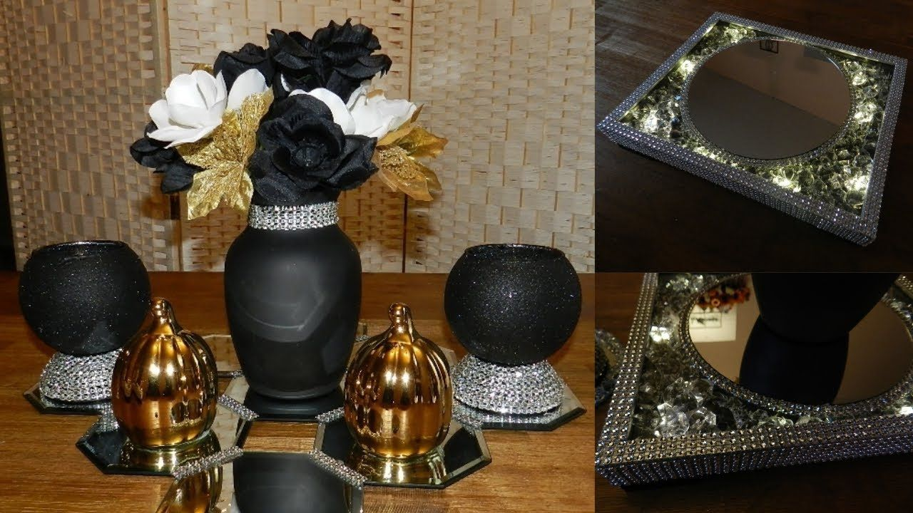 Dollar Tree Glam Bling Centerpiece Diy Elegant Candle Holdersl