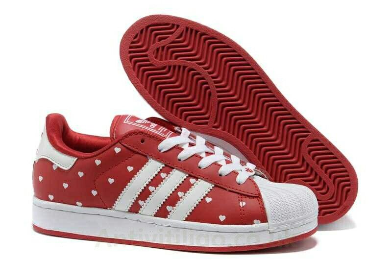 100% authentic 340b7 dd8de Love Heart Superstar. new style ladies shopping Adidas Superstar II Shoes  Red White ...