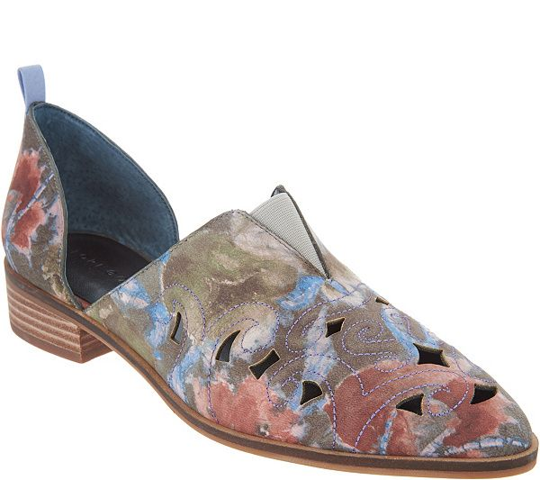 c0170c30b15 Lori Goldstein Collection Perforated Western Slip-on Shoe — QVC.com ...
