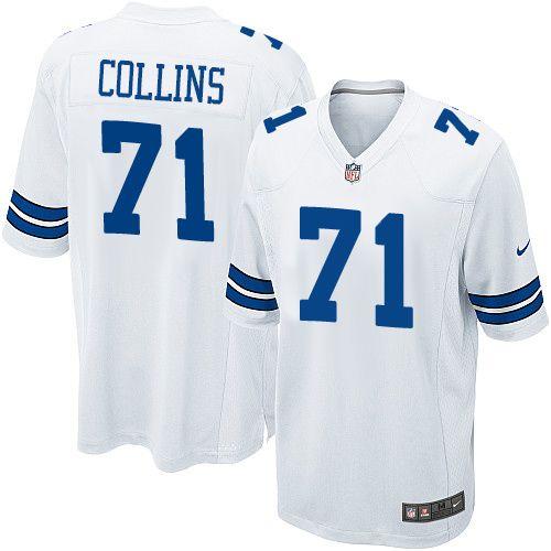 Nike Game La'el Collins White Youth Jersey - Dallas Cowboys #71 NFL Road