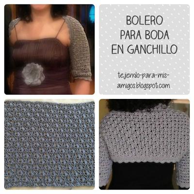 Bolero para boda en ganchillo | Crochet | Pinterest | Boleros ...