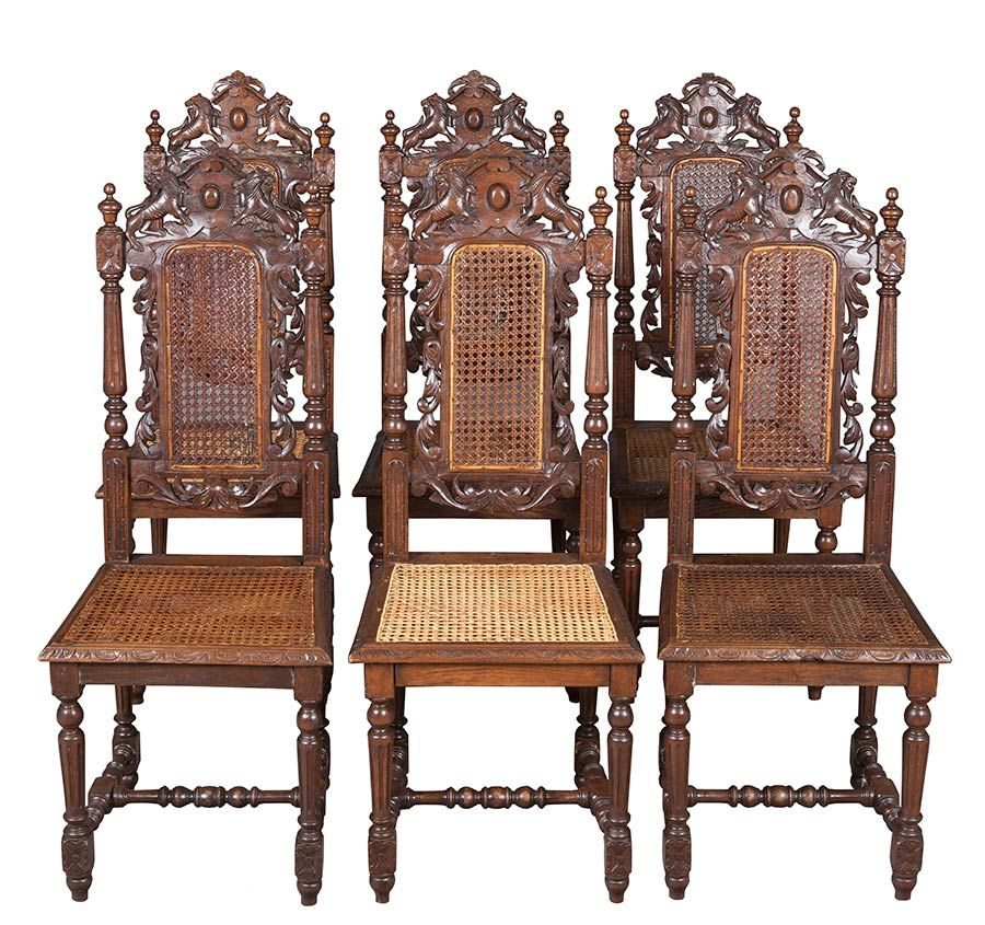 Set of Six French Antique Dining Chairs - English Classics - Set Of Six French Antique Dining Chairs French Antiques, Dining