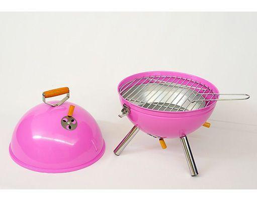 mini bbq grill holzkohle kugelgrill pink stuff i crave. Black Bedroom Furniture Sets. Home Design Ideas