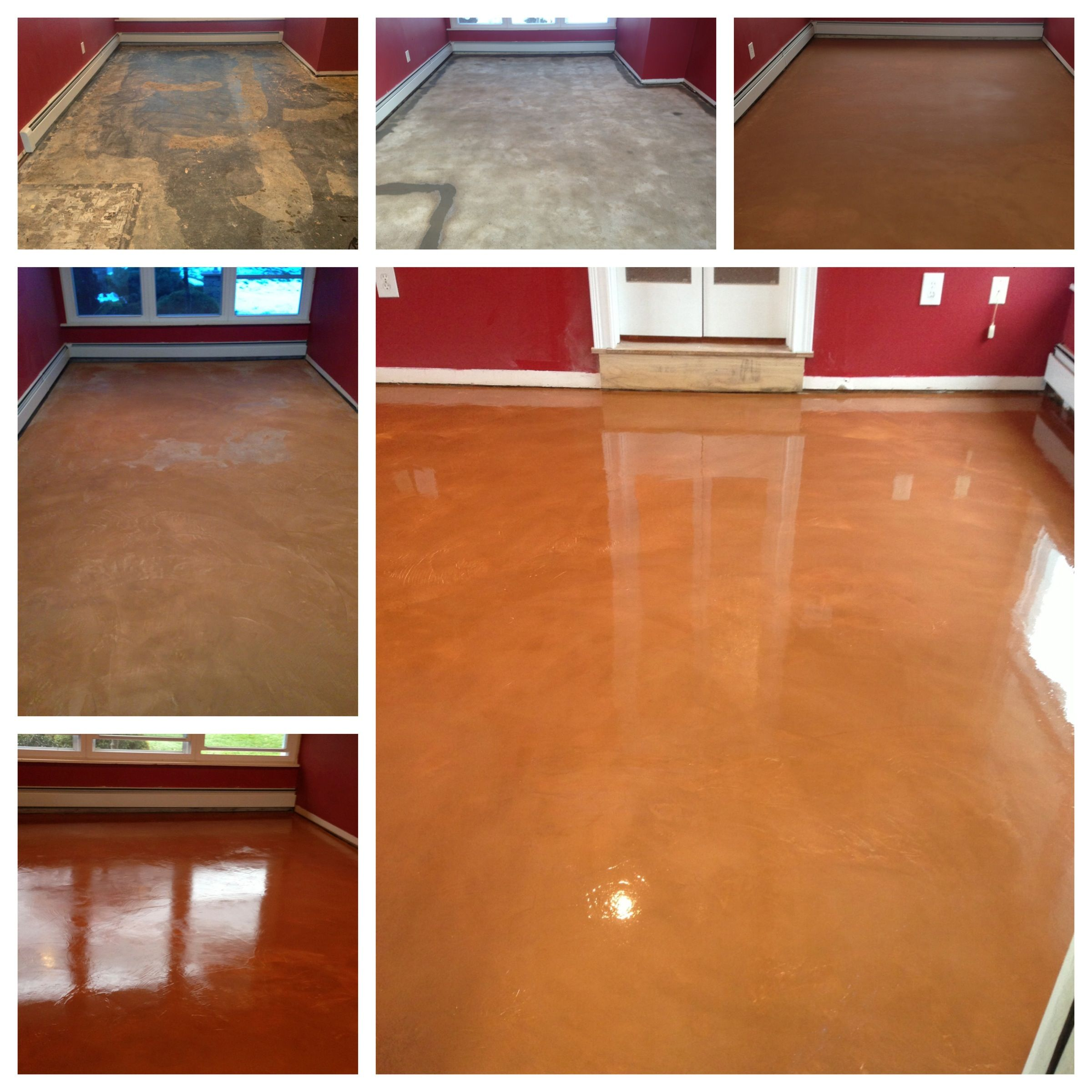 The beauty of concrete flooring 50 years of asbestos tile the beauty of concrete flooring years of asbestos tile carpet replaced with a decorative overlay easily maintained very sanitary and allergen dailygadgetfo Image collections