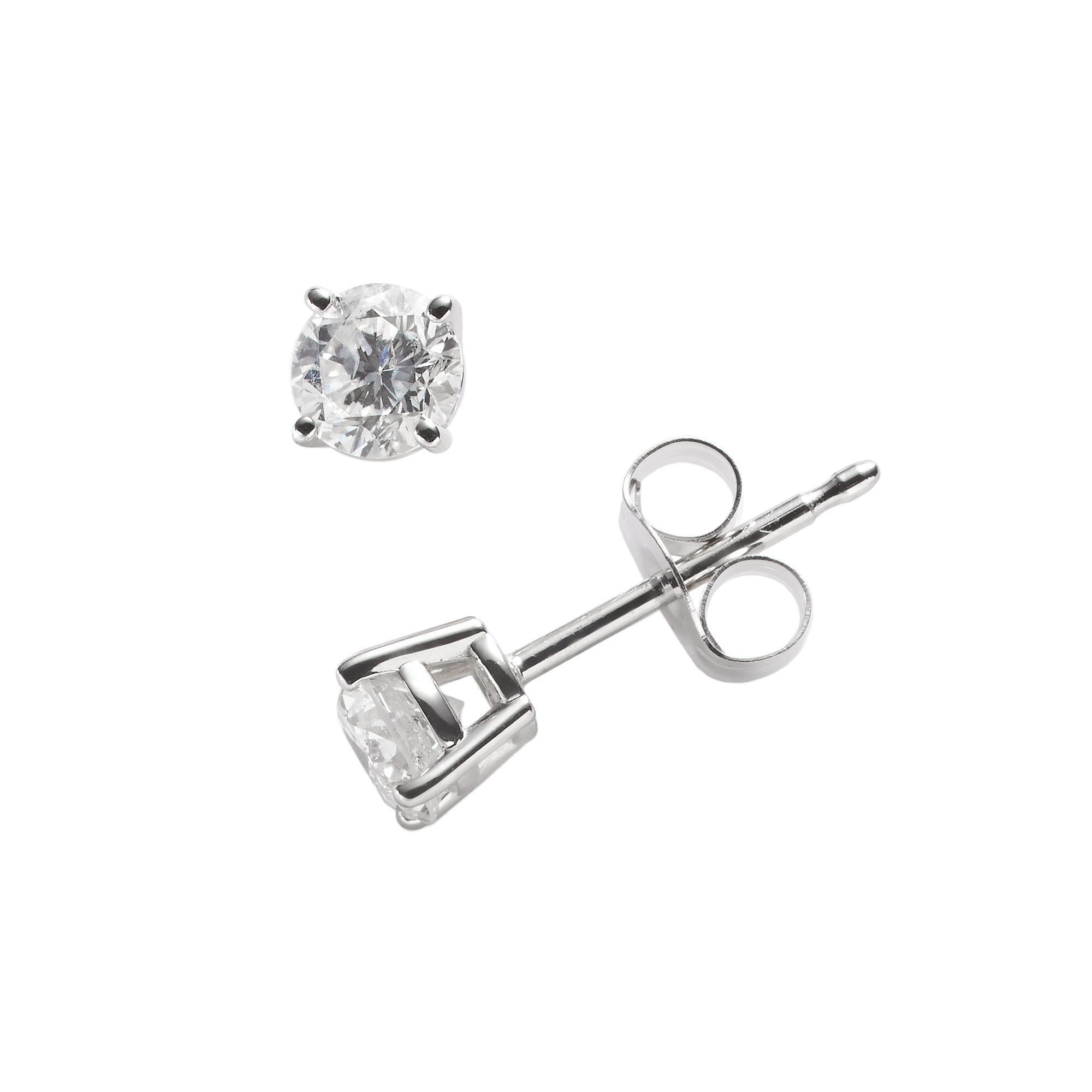 gold jewellers earrings diamond solitaire white curwood simon