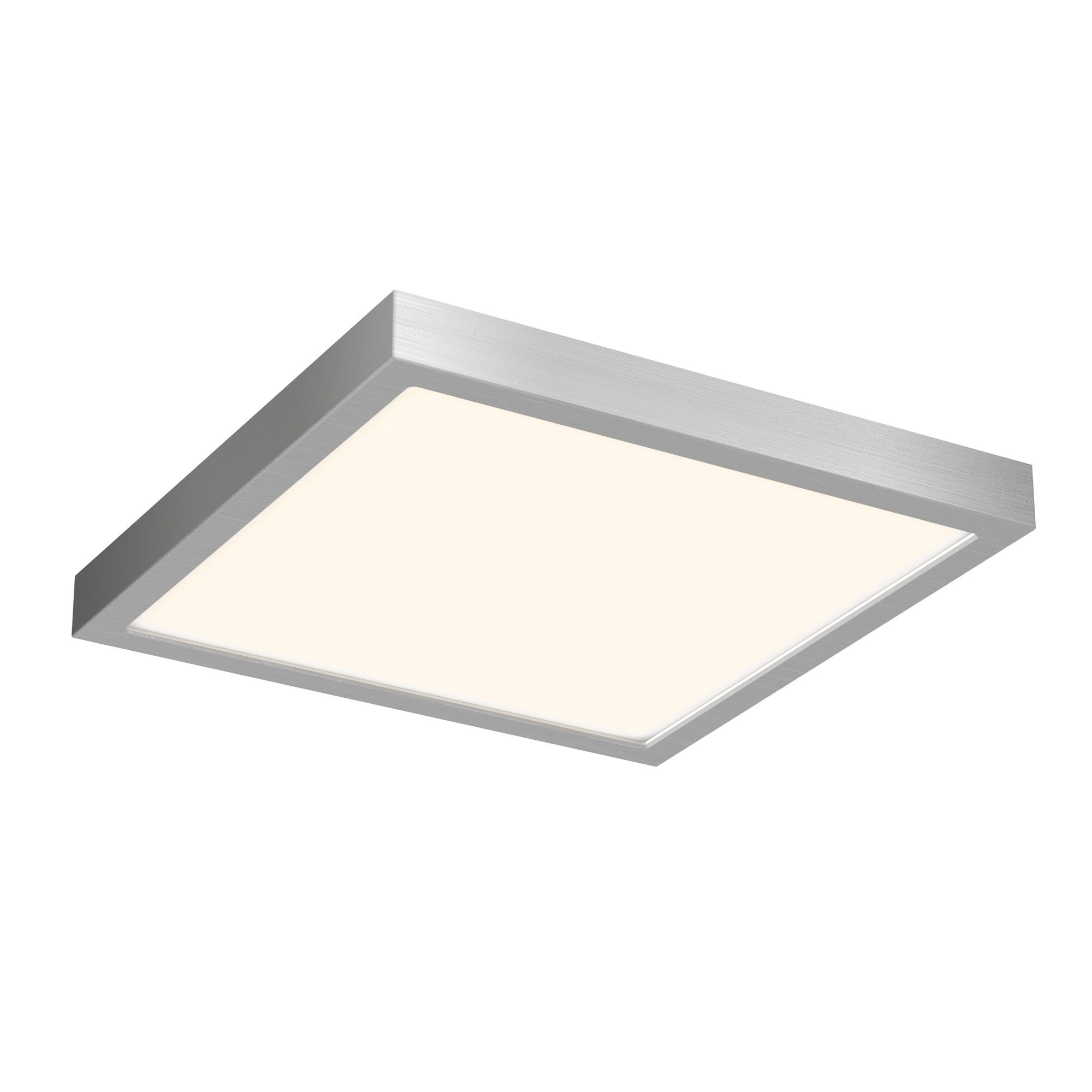 Dals Lighting Cfledsq10 Indoor Outdoor 10 Wide Led Square Flush Mount Ceiling Fixture Satin Nickel Led Flush Mount Flush Mount Ceiling Lights Ceiling Lights