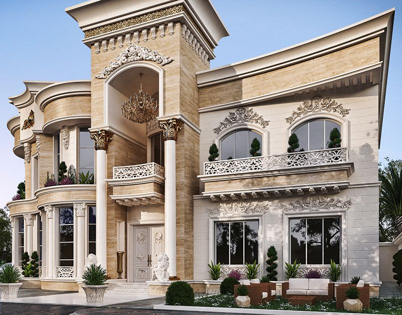 White Dove Palace On Behance Luxury Exterior Modern Exterior House Designs House Designs Exterior