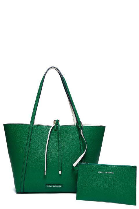 7e796ecd5231 Green reversible to white leather tote armani exchange big bags jpg 480x720 Armani  exchange large tote