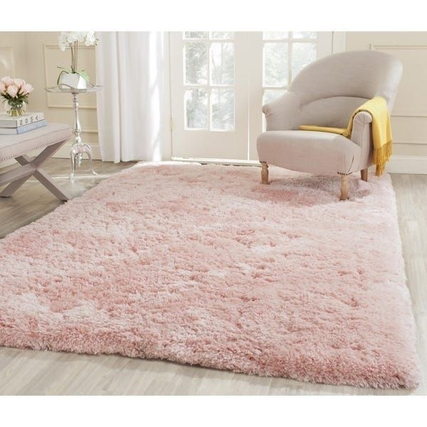 Safavieh Handmade Arctic Shag Pink Polyester Rug - 4 x 6 #style #shopping #styles #outfit #pretty #girl #girls #beauty #beautiful #me #cute #stylish #photooftheday #swag #dress #shoes #diy #design #fashion #homedecor