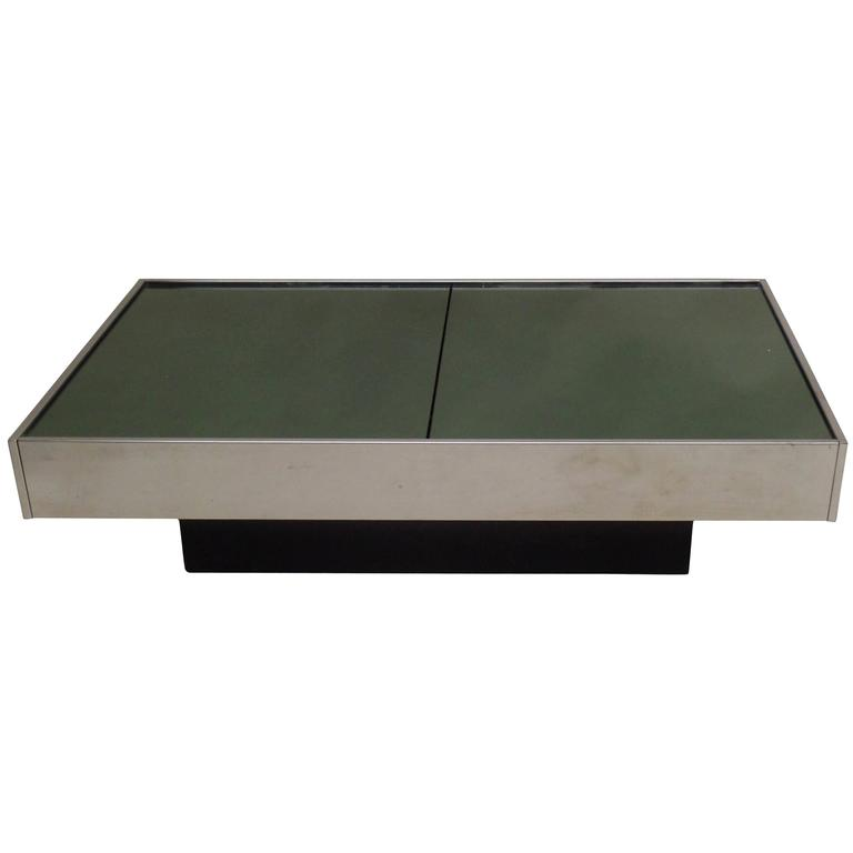 Willy Rizzo Coffee Table.Willy Rizzo Coffee Cocktail Table Expandable Cidue 1970 Italian