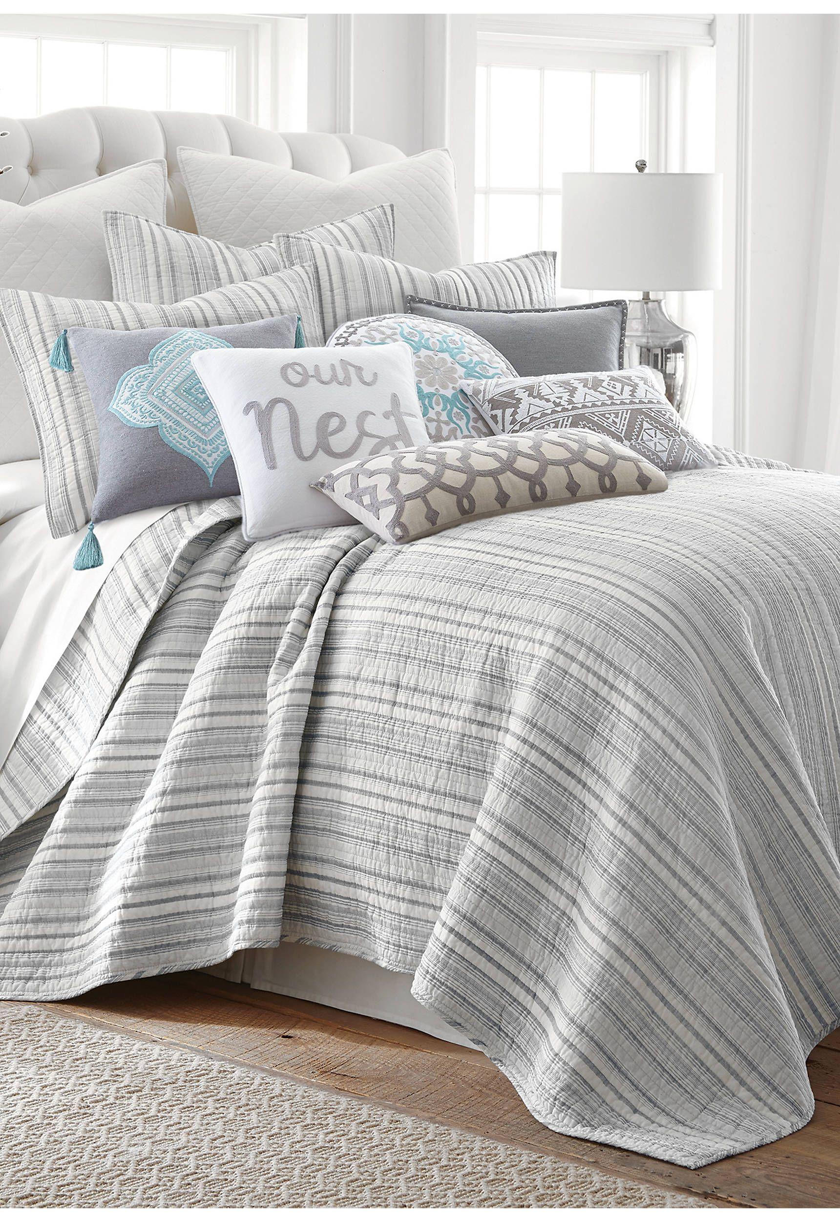 Levtex Vasari Stripe Gray Quilt Set Bedroom Design Bedroom Decor Bedroom Quilts