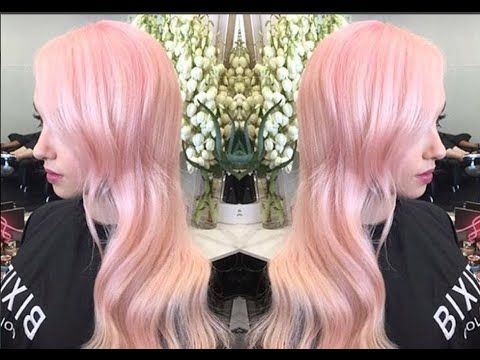 How To Get Peachy Pink Pastel Hair The Process And Product Pravana Chromasilk Pastels