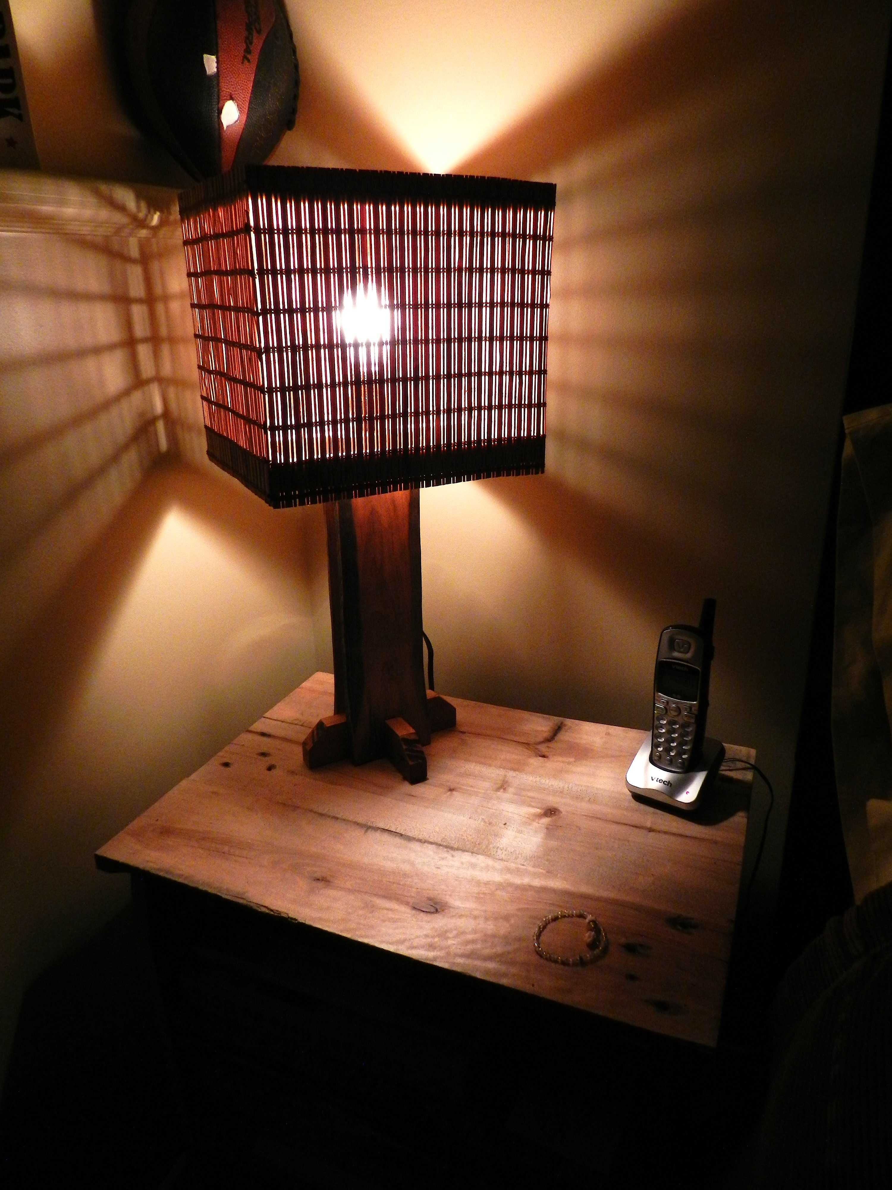 Lampe En Bois Recycle Lamp Made From Recycled Pallet Wood Pallet Home Decor Pallet Light Recycled Lamp