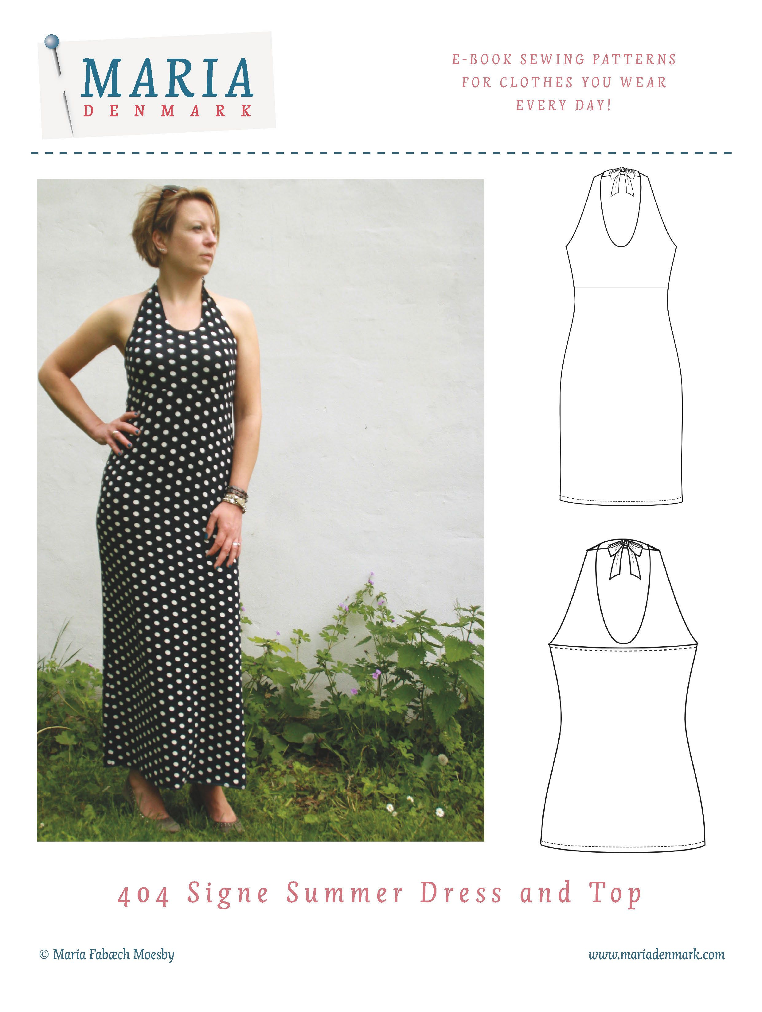 1ae9972c4ddb4c Here is you perfect summer dress pattern. Download this halterneck jersey  dress pattern now and start sewing in 30 min