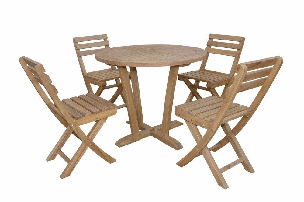 Anderson Outdoor Patio Dining Bistro Table Set 227 With 4 Chairs