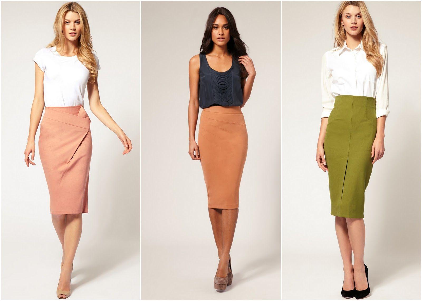 Denim Pencil Skirt Below Knee 2014-2015 | Fashion Trends 2014-2015 ...