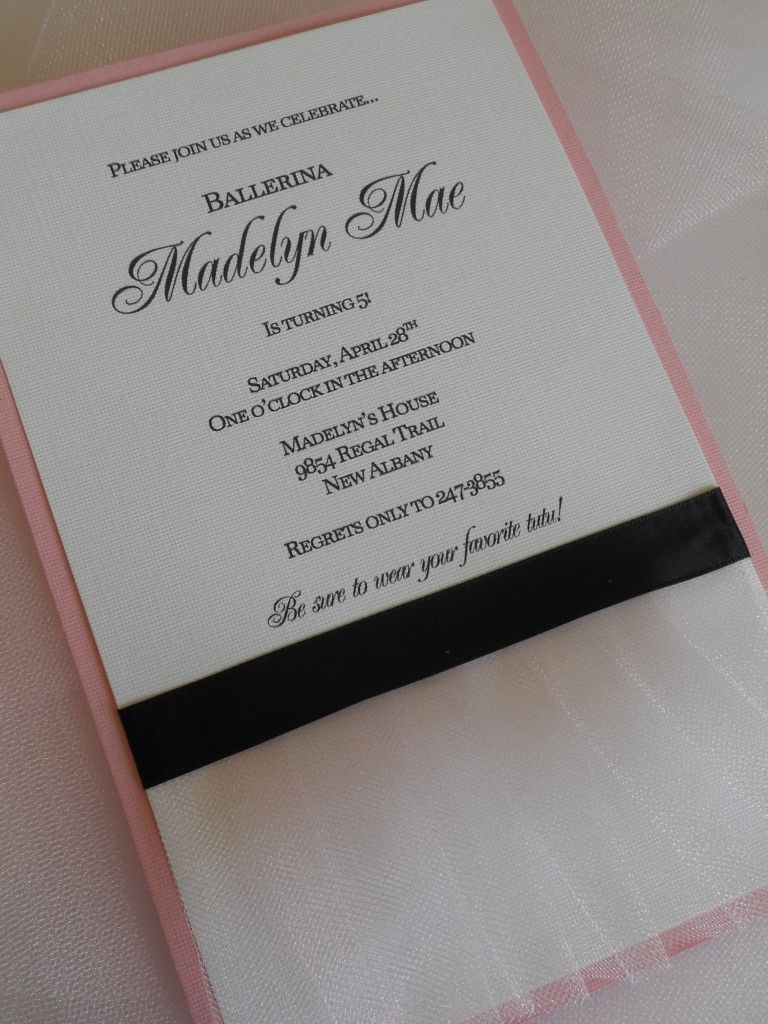 homemade invitations-birthday ballerina | party | Pinterest ...