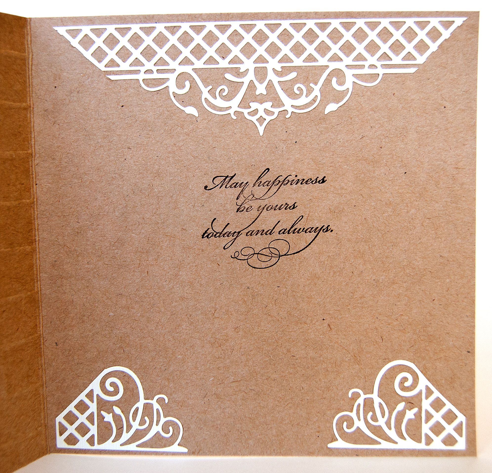 "Inside of Wedding card using Stampin Up ""Botanical Blooms "" card"