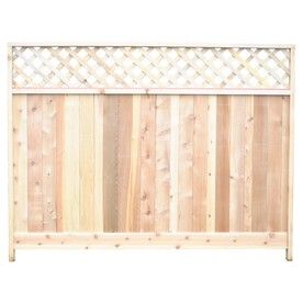6 Ft X 8 Ft Cedar Lattice Top Wood Fence Panel Lowes Wood Fence Lowes Home Improvements Fence Panels