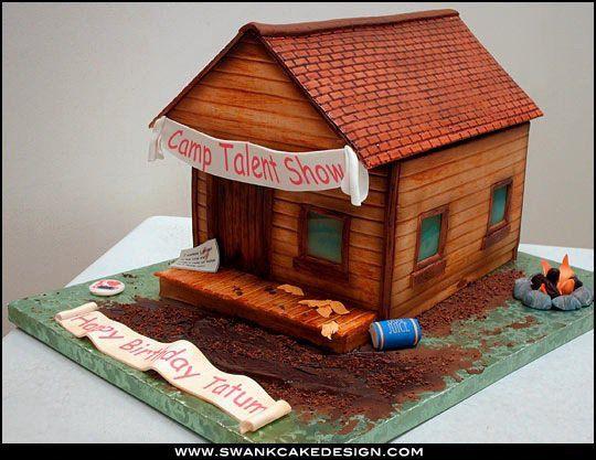 Log Cabin Cake Architecture Cake House Cake Log Cake
