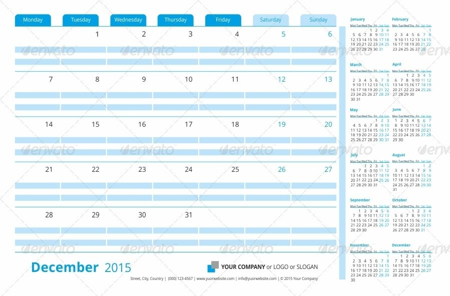 Business Planner Monthly Template 2015 (2014) Business