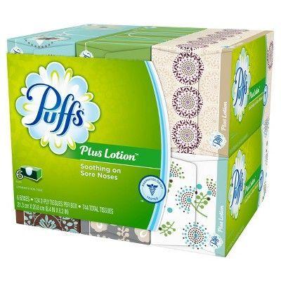 Puffs Plus Lotion Facial Tissues - 6pk 744ct