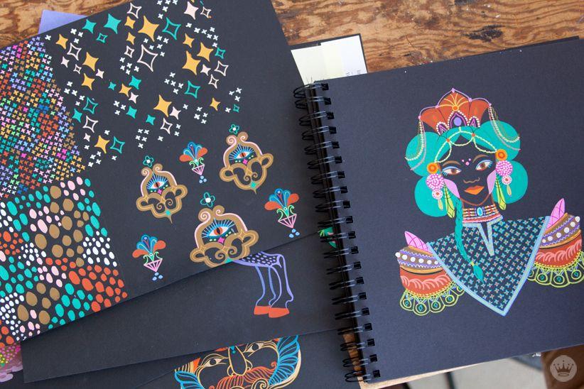 Black Paper Art Journal