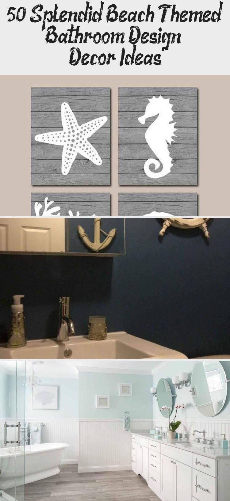 50 Splendid Beach Themed Bathroom Design & Decor Ideas – Decor Bathroom