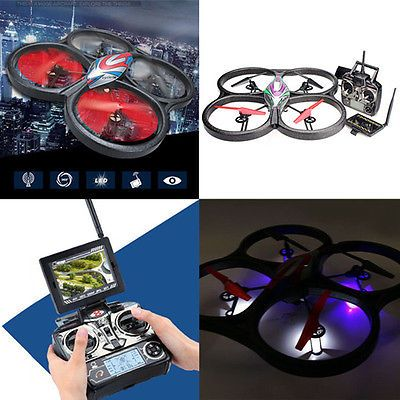 WLtoys V666 5.8G FPV 6 Axis RC Quadcopter LED Drone With HD Camera Monitor RTF