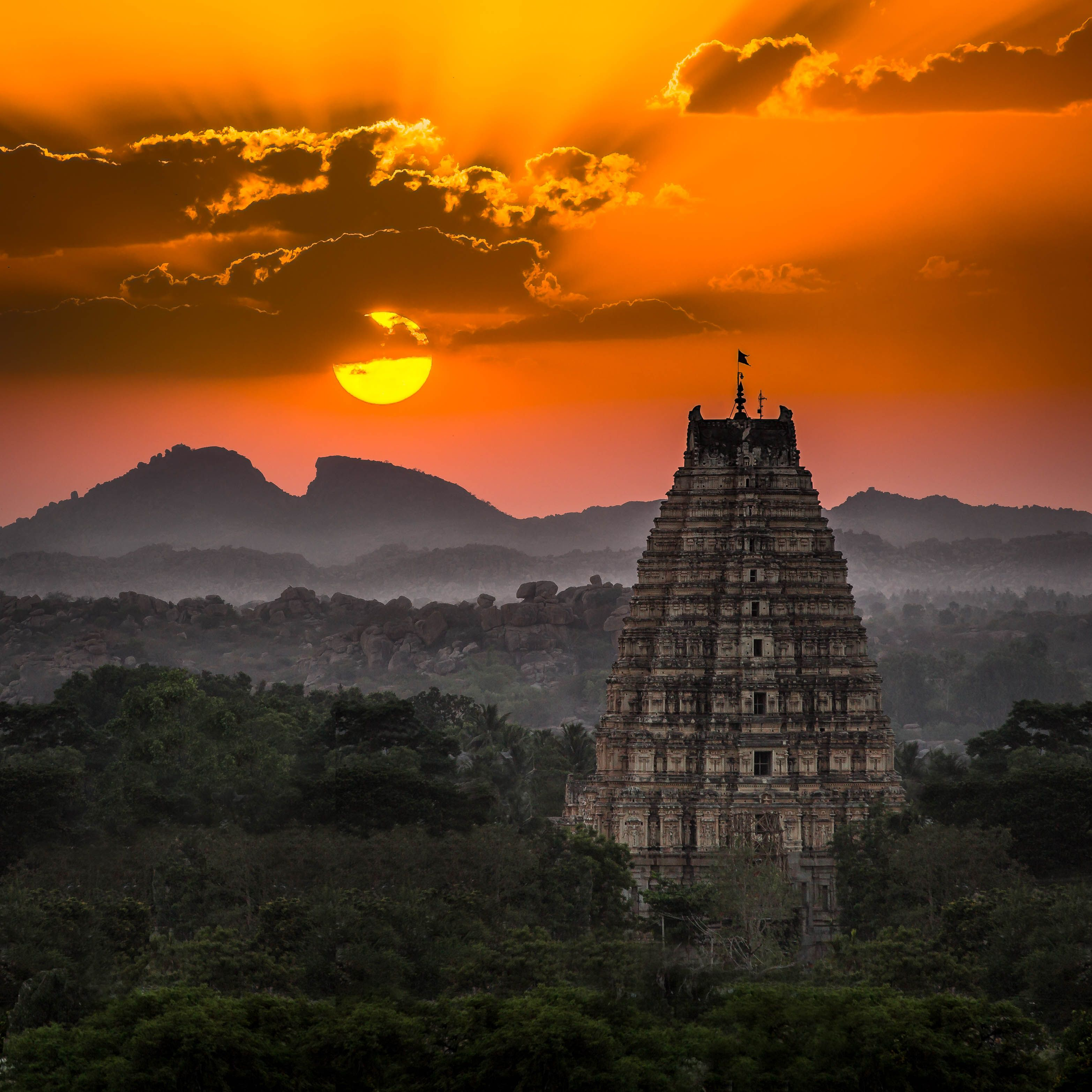 Sunset in Hampi, India. One of my favourite places visited