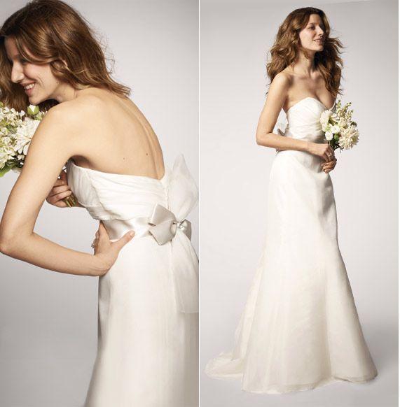 2018 Milla Nova Simple Satin Wedding Dresses 34 Long: Nouvelle Amsale Soft Trumpet Gown #R103G