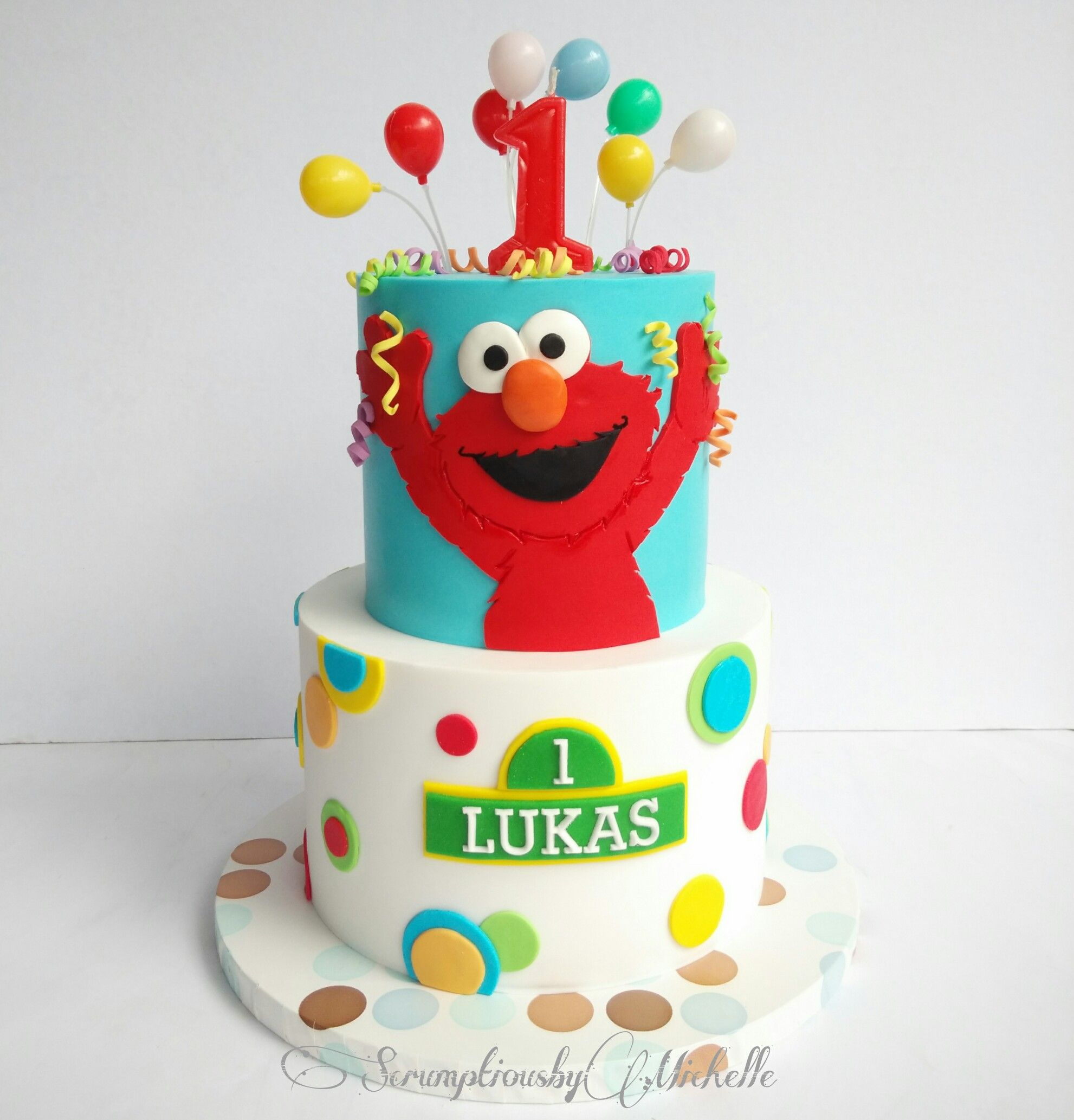 Elmo Birthday Cake On Satinice Com Scrumptious By Michelle