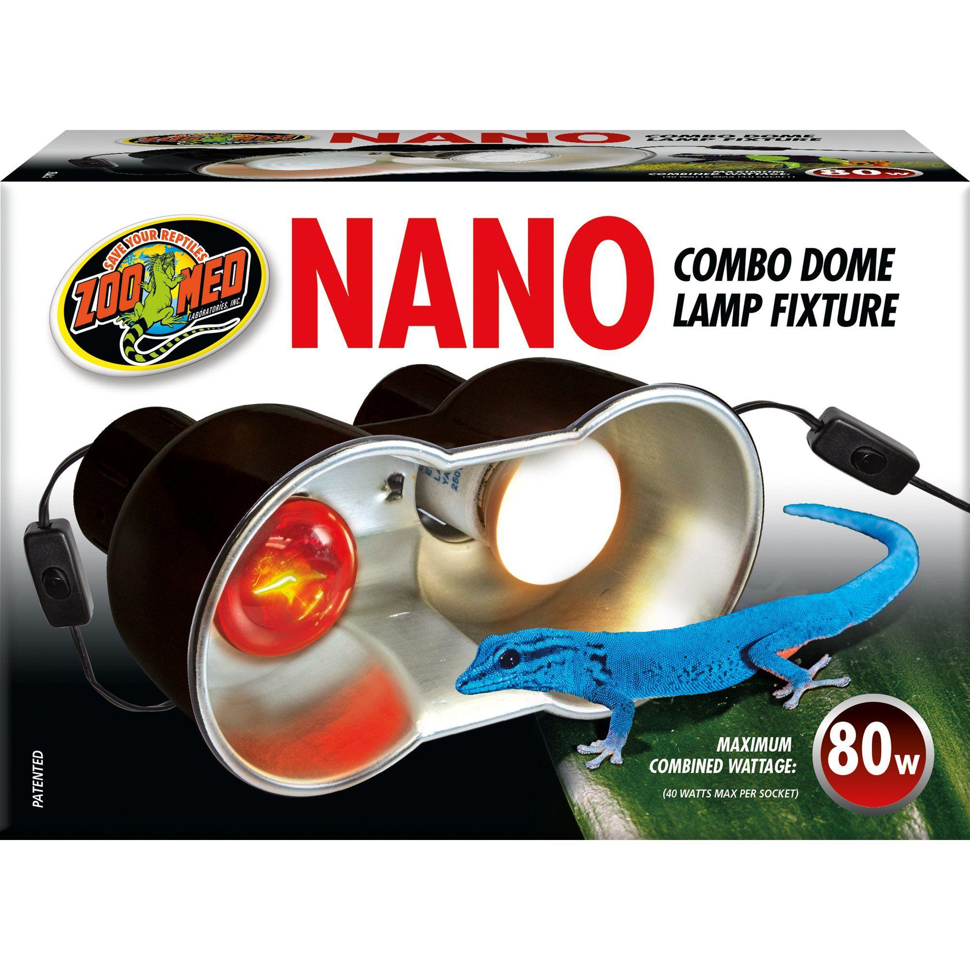 Zoo Med Nano Combo Dome Lamp Fixture 100 Watt Reptile Lights Reptile Supplies