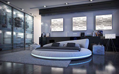 Komplettbett Rundbett MEZZO LED + Matratze + Lattenrost - komplett schlafzimmer mit matratze und lattenrost