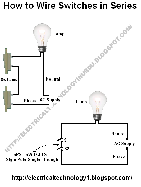 How To Wire Switches In Series Single Way Switch With Light Bulb Wire Switch Home Electrical Wiring Light Switch Wiring