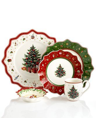 Villeroy Boch Toy S Delight Dinnerware Collection Reviews Home Macy S Christmas Dishes Christmas China Patterns Christmas Dinnerware