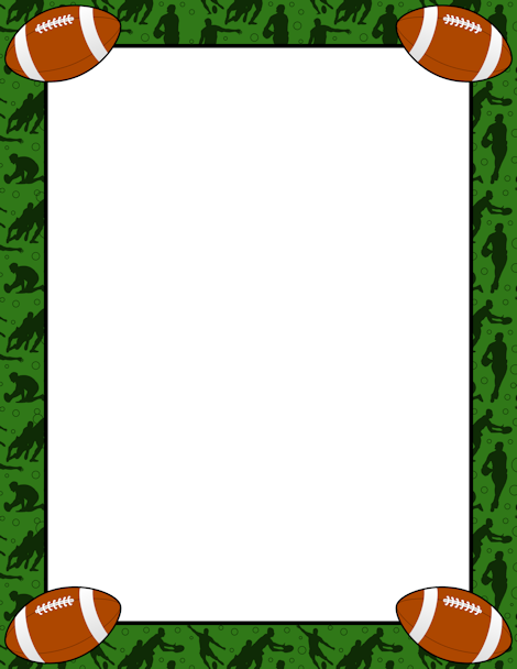 Printable Rugby Border. Use The Border In Microsoft Word Or Other Programs  For Creating Flyers  Page Borders Templates For Microsoft Word