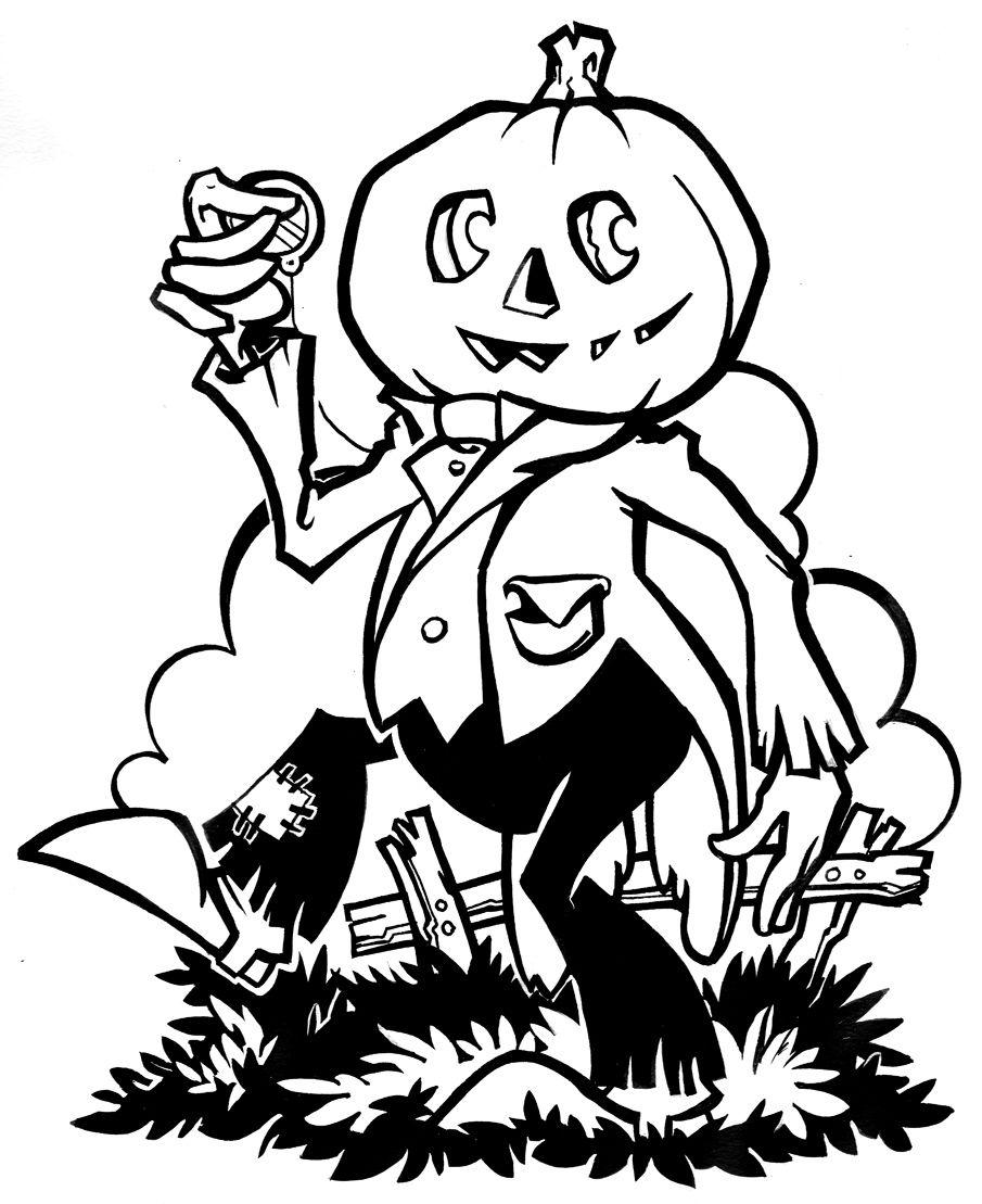 Pumpkin man | Halloween coloring book | Pinterest