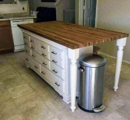 Kitchen Island Remodel Diy Old Dressers 33 Ideas   Kitchen ...
