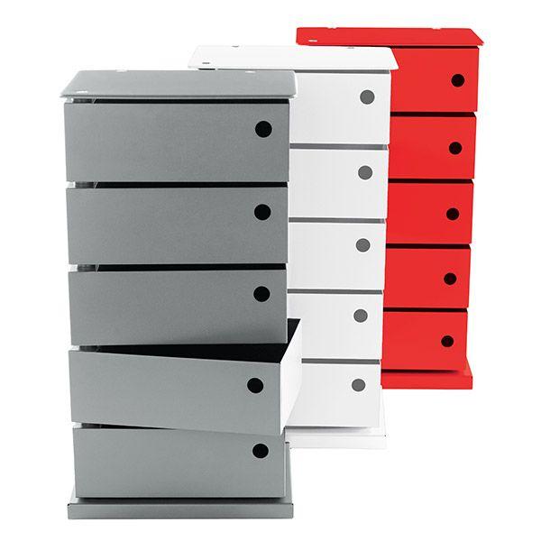 Gentil Dottus Anthracite 5 Bin Storage Tower. #drawers