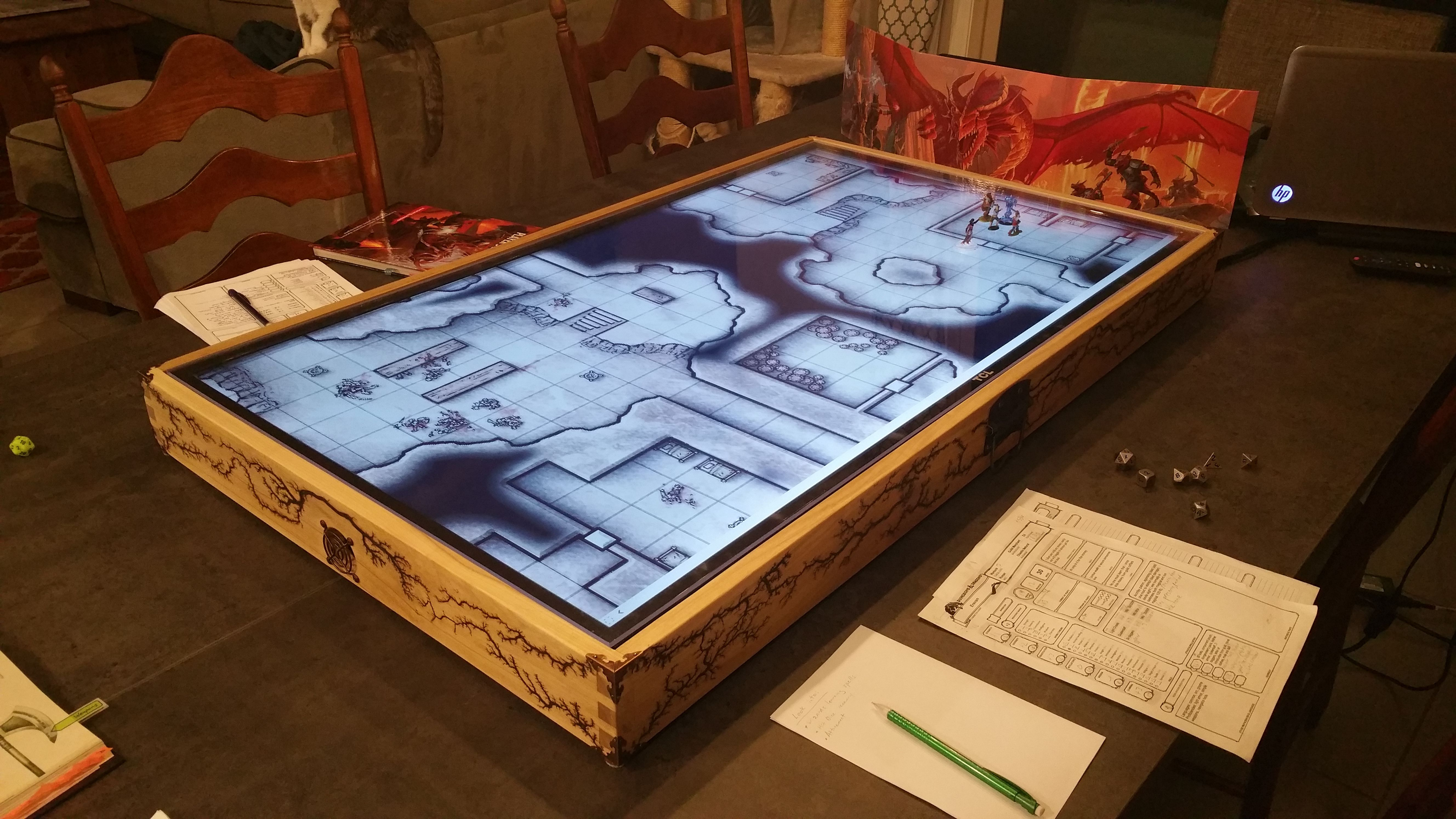"50"" Digital Map Case / Battle Mat for Dungeons & Dragons"