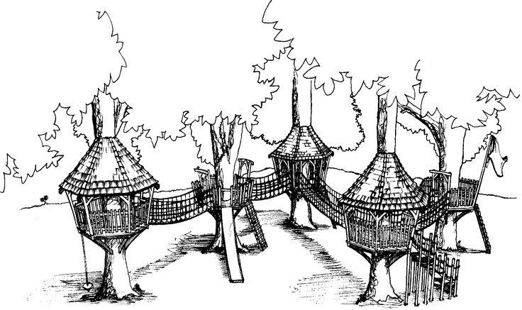 Multiple Treehouses With Rope Bridges Tree House Newcastle Upon Tyne Alternative Wedding Venue